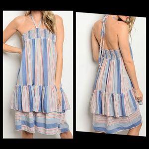 WINE IVORY DRESS-101 💦BLUE MULTI DRESS ... 1e1808a8c